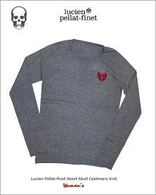 """ルシアンペラフィネ【lucien pellat-finet""""Heart-Skull.Cashmere.Knit""""Woman】【ハートスカル-カシミヤニット】"""