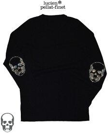 ルシアンペラフィネ スカル スワロフスキークリスタル カシミヤ100%ニット ブラックlucien pellat-finet Skull Cashmere.Knit