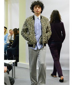 ルシアンペラフィネ レオパード ジャケット ボアフリース メンズlucien pellat-finet Leopard-Jacket