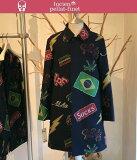 ルシアンペラフィネレオパード柄スカルジャケット女性用lucienpellat-finetLeopard-Skull-Jacket