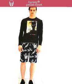 ルシアンペラフィネ アロハショーツ ショートパンツ メンズlucien pellat-finet Shorts ハーフパンツ スカル