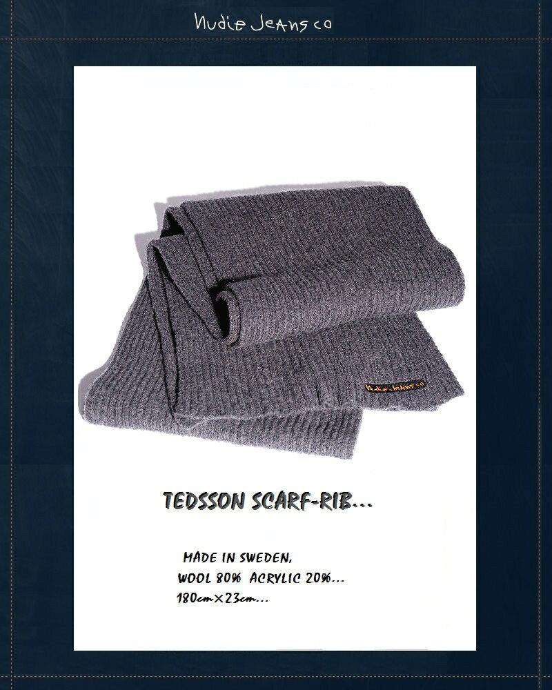 "【NudieJeans""リブマフラー/グレー】【ヌーディージーンズ正規取り扱い】"