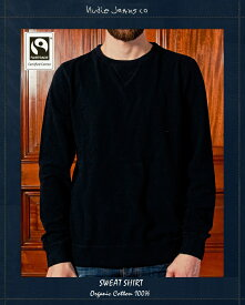 NudieJeans SwearShirt blackヌーディージーンズ オーガニック スウェット 国内正規品