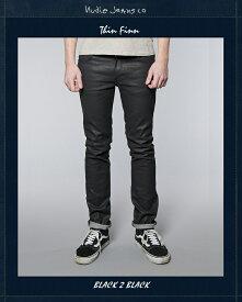【全品P2倍】ヌーディージーンズ NudieJeansシンフィン ブラックコーテッド L30ThinFinn Black.2.Black 北欧 スウェーデン ブラックデニム ブラックジーンズ