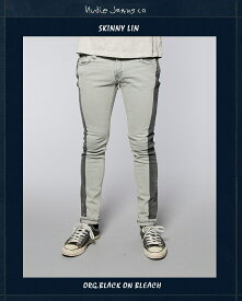 """ヌーディージーンズ NudieJeans【限定カプセルコレクション""""スキニーリン""""ブラックオンブリーチ/L30】【SkinnyLin""""Org.Black.on.Bleach】"""