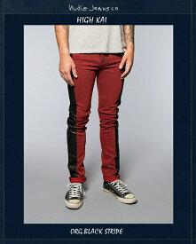 "【NudieJeans限定カプセルコレクション""HighKai/Org.Black.Stripe""L30】【ヌーディージーンズ""ハイカイ""ブラックストライプ】"