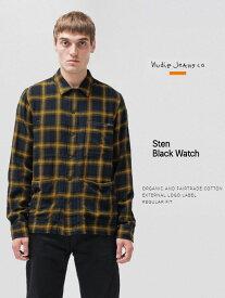 ヌーディージーンズ チェックシャツ シャツジャケット Nudiejeans STEN シャツ スウェーデン ジャケット