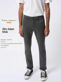 ヌーディージーンズ スリムアダム チノパンツNudieJeans SlimAdam MOLE グレー スウェーデン
