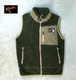 ROKX Classic BERBER VESTロックス 秋冬ボアベスト フリース