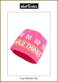 """【Wild Things】【LOGO-BeanieCap""""pink】"""