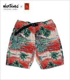 "【Wild Things×Kato""Island.ClimbingShorts""Red】【ワイルドシングス""アイランドクライミングショーツ綿麻】"