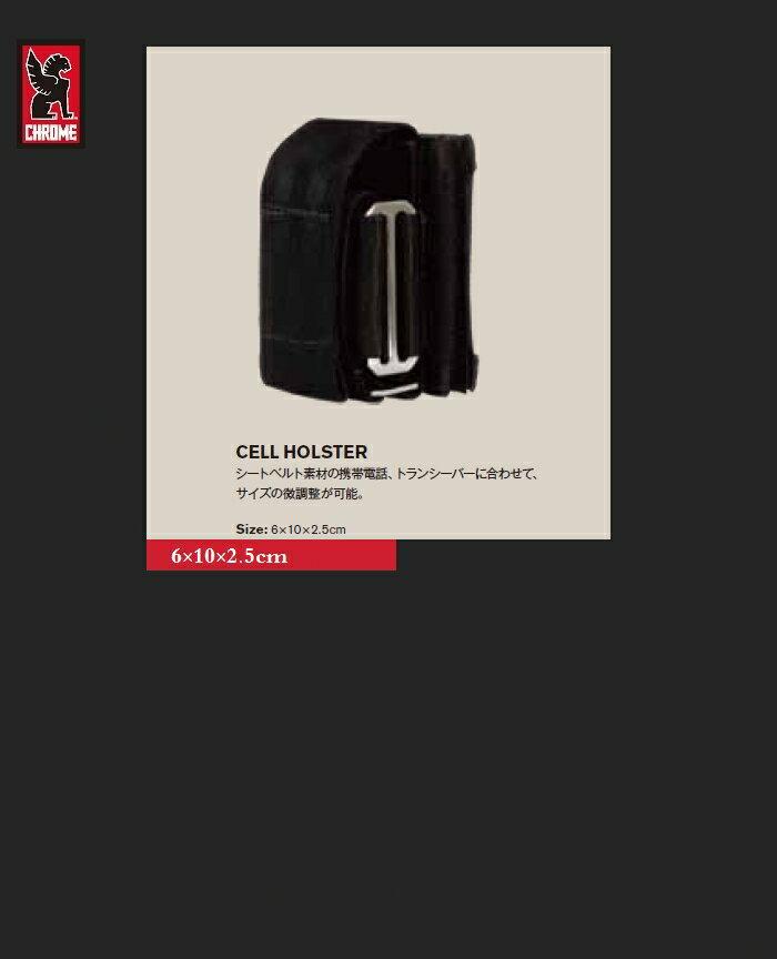 """【全品ポイント2倍】【CHROME""""CELL-HOLSTER/Black】【クローム""""携帯ケース】"""