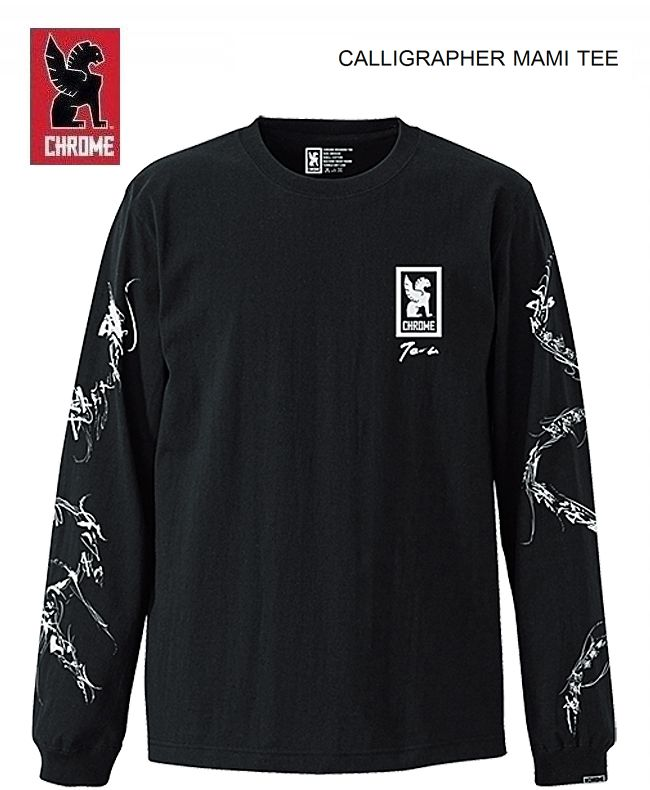【P2倍最大15,000円OFFクーポン配布中】クローム 日本限定モデル カリグラファー万美 ロングTシャツCHROME JAPAN LTD CALLIGRAPHER MAMI LS Tshirt