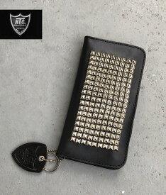 HTC ♯14Pyramid Type1 StudsWallet Black/silverピラミッド スタッズウォレット 財布 札入れ カードケース madeinUSA アメリカ製