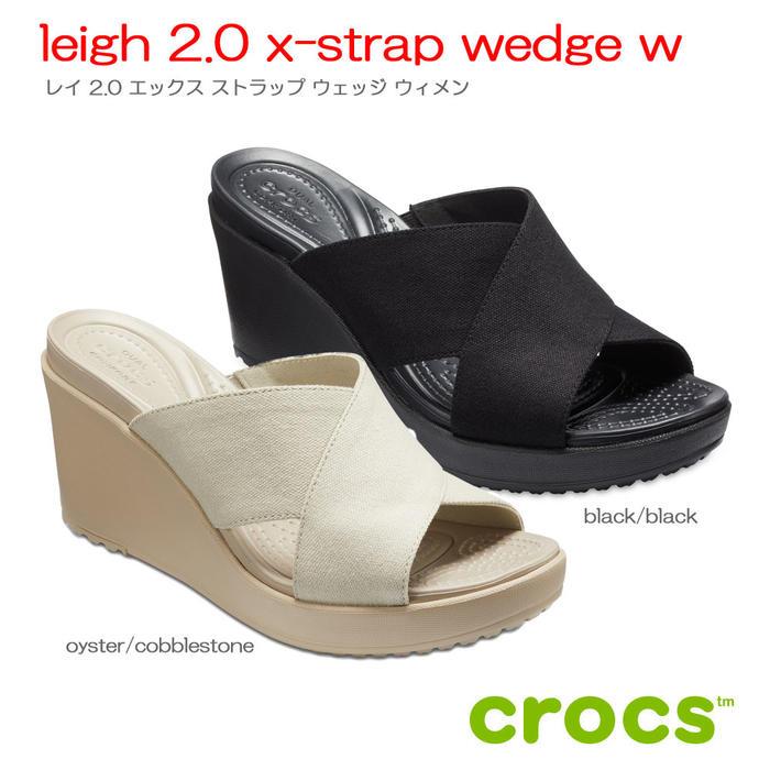 クロックス crocsleigh 2.0 x-strap wedge w レイ2.0エックスストラップウェッジウィメン【クロックス国内正規取扱】