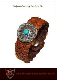 "HTC【♯CoinConcho-Bracelet""Tan/Turquoise】【HTC""コインコンチョブレスレット/ライトブラウン】"
