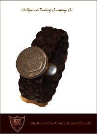 "HTC【♯CoinConcho-Bracelet""Brown】【HTC""コインコンチョブレスレット/ブラウン】"