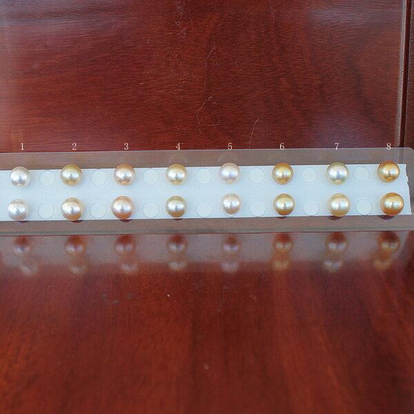 ●白蝶真珠ペア<Natural Gold>10-11mm(横幅)<Round Shape><Excellent Special><Titan Piace>直結 or SV 金色ブラ W環K14WG/K18直結 or ブラ SV EG は オプションです。選択くださいませ。