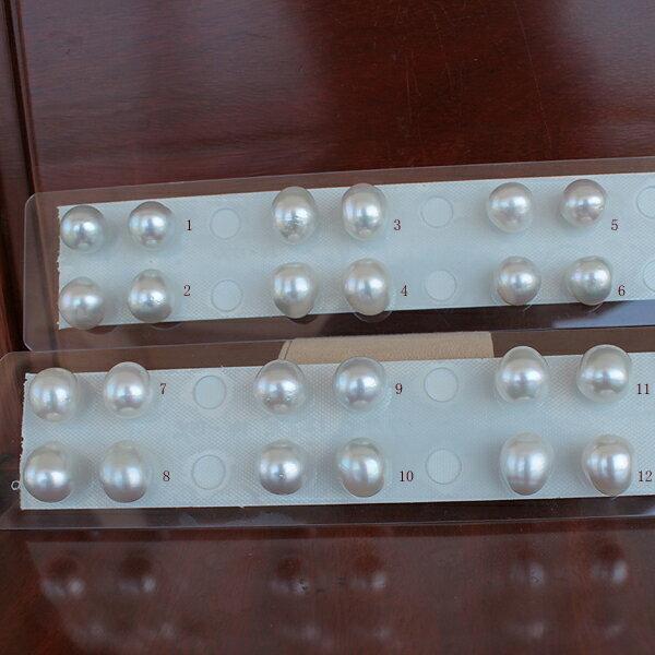 白蝶真珠ペア 14mm-15mm(横幅)<Oval Shape><Natural White><Excellent Special>K14WG ツリバリ型ピアス K18は追加1000円税別です。
