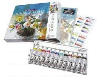 长山水彩方法-油漆、 Yuko 长山玫瑰-DVD + シュミンケ 扑克设置 12 种颜色