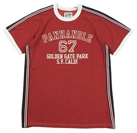 """'BO'S GLAD RAGS [""""PANHANDLE, GOLDEN GATE PARK SAN FRANCISCO, CALIF., 1966-67"""" RUSTY RED size.S,M,L,XL]"""