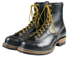 "WESCO [""8"" Horsehide Jobmaster"" (Lace to toe) Black size.8 1/2E,9E,9 1/2E,10E]"