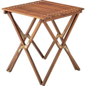 ロールトップテーブル テーブル 木製テーブル アウトドア キャンプ グランピング 持ち運び 便利 組立 木製 屋外 庭 お家キャンプ カフェ テラス 北欧 食卓 カントリー フレンチ W60 D60 H67 家