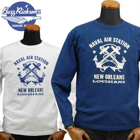 バズリクソンズ BUZZ RICKSON'S ロングTシャツ「N.A.S. NEW ORLEANS」BR68383