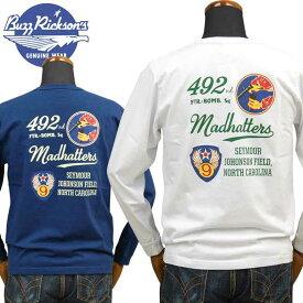 バズリクソンズ BUZZ RICKSON'S ロングTシャツ「492nd FTR-BONB.SQ.」BR68385