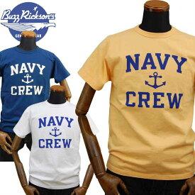バズリクソンズBUZZ RICKSONS ミリタリーTシャツ「NAVY CREW」BR78449