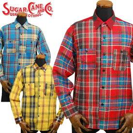 シュガーケーン SUGAR CANE ツイルチェックワークシャツ クレイジーパターン「SC28239」