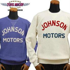 トイズマッコイ TOYS McCOY ビッグワッフルクルーネックロングTシャツBIG WAFFLE CREW NECK SHIRT「JOHNSON MOTORS」TMC1946