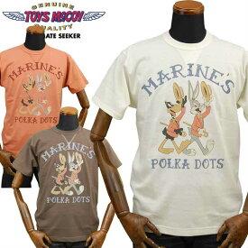 トイズマッコイ TOYS McCOY ミリタリーTシャツ BUGS BUNNY「POLKA DOTS」TMC1911