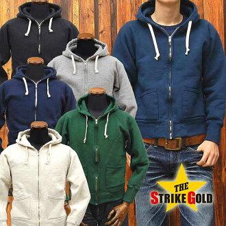 Strike gold THE STRIKE GOLD LoopWheel FullZip SweatParka hanging knit full ZIP sweat parka plain 'SGC004' ◆ casual ◆