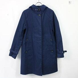 Traditional Weatherwear / トラディショナルウェザーウェア | DELVINE Aラインフーテッドコート | 32 | ブルー | レディース