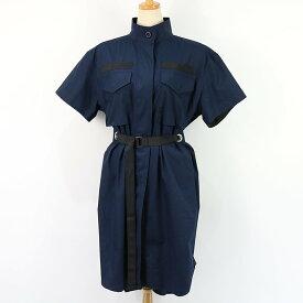 sacai / サカイ | 2019SS | ベルトデザインシャツワンピース | 2 | ネイビー | レディース