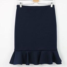 【美品】 LE CIEL BLUE / ルシェルブルー | ストレッチペプラムスカート | 40 | ネイビー | レディース