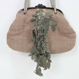 mina perhonen / ミナペルホネン | 2010AW | forest parade cuddle bag がま口 カドルバッグ | ベージュ | レディース