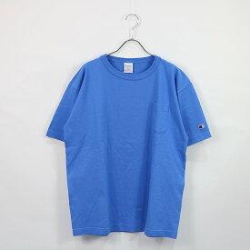 【新品】 CHAMPION / チャンピオン | C5-B303 T1011 S/S Tee ロゴ刺繍クルーネック半袖Tシャツ | L | ライトブルー | メンズ