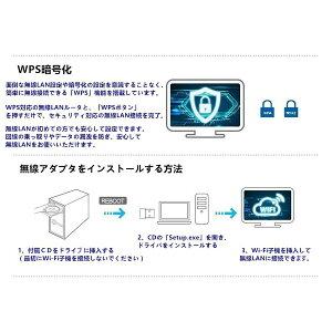 無線LAN子機Wi-Fiアダプターハイパワーアンテナデュアルバンド2.4GHz150Mbps/5GHz433Mbps対応WindowsMacLinux対応SDM便送料無料技適1ヶ月保証K&M