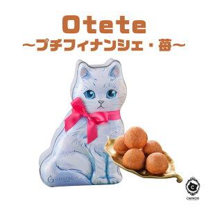 【バレンタイン】Otete〜プチフィナンシェ・苺〜シャトロワ(Chatrois)【プチギフト スイーツ 小分け プレゼント かわいい おしゃれ お菓子 缶】