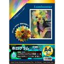 メール便送料無料 インクジェット用メディア ホログラム レインボーフィルム(A4サイズ3枚セット)