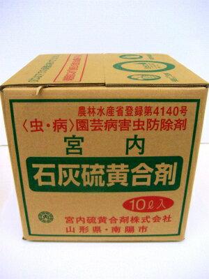 宮内硫黄合剤 石灰硫黄合剤 10L
