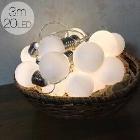 ガーランド ライト 電池式 電球色 電球型 全長3m LED20球 イルミネーション ライト 部屋 おしゃれ 結婚式 キャンプ インテリア かわいい 誕生日 飾り 室内 オーナメント パーティー ウエディング 装飾 雑貨