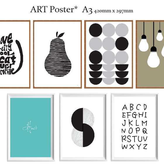 全28種 アートポスター 北欧 ポスター A3サイズ ART デザイン アートプリント インテリア 額縁 フレーム