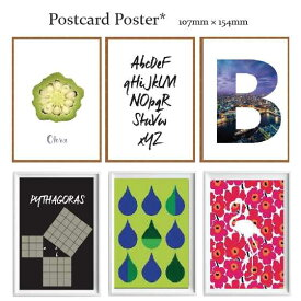 【選べる】北欧アートポスター アートパネル Nordic style ポストカード 7枚セット スカンジナビア ノルディック ブルックリン