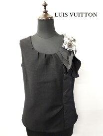ルイ・ヴィトン【LUIS VUITTON】wool /silk  sleeveless topsサイズ36(中古) ランクA