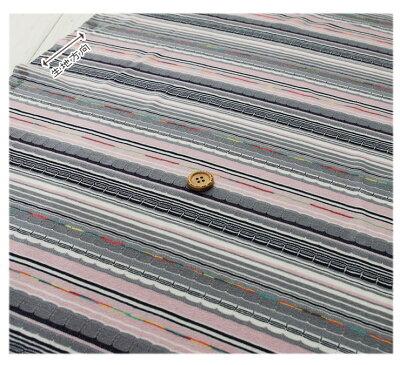【ニット生地★変わり織りボーダー全2色】テンション中の縫いやすいジャガードニット天竺【1m単位】(j-2120)