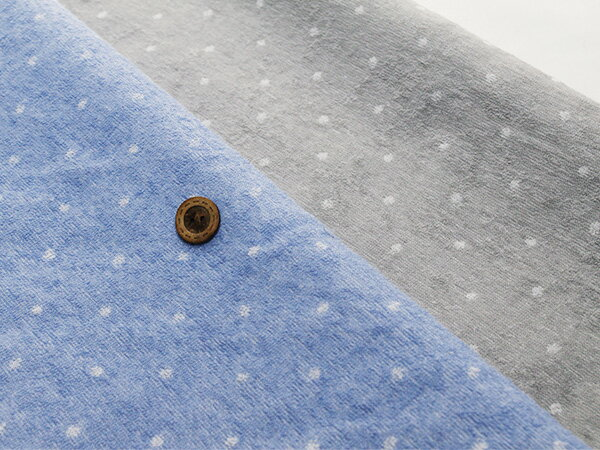 【布帛 パイル生地★タオル ドット】軽くて肌触りの良い細いパイル織りのタオル生地【50cm単位】(ss-33)