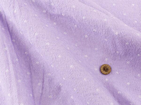 【布帛 パイル生地★ドット パープル】小さいドットがかわいいパジャマメーカー放出品のタオル生地【50cm単位】(ss-34)